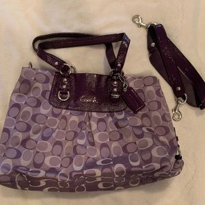 Coach purple purse